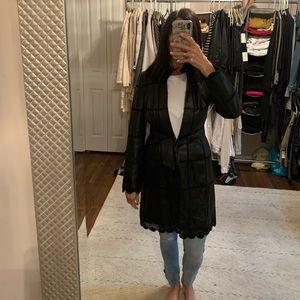 Georgous leather trench coat